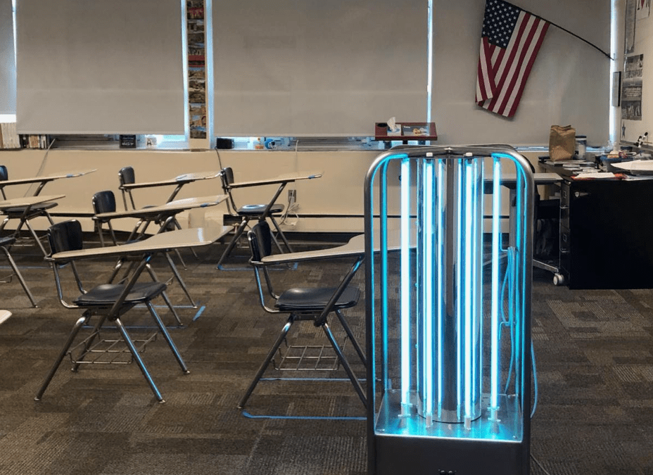 Bishop Chatard High School Acquires Mobile UV Unit to Sanitize Air and Surfaces